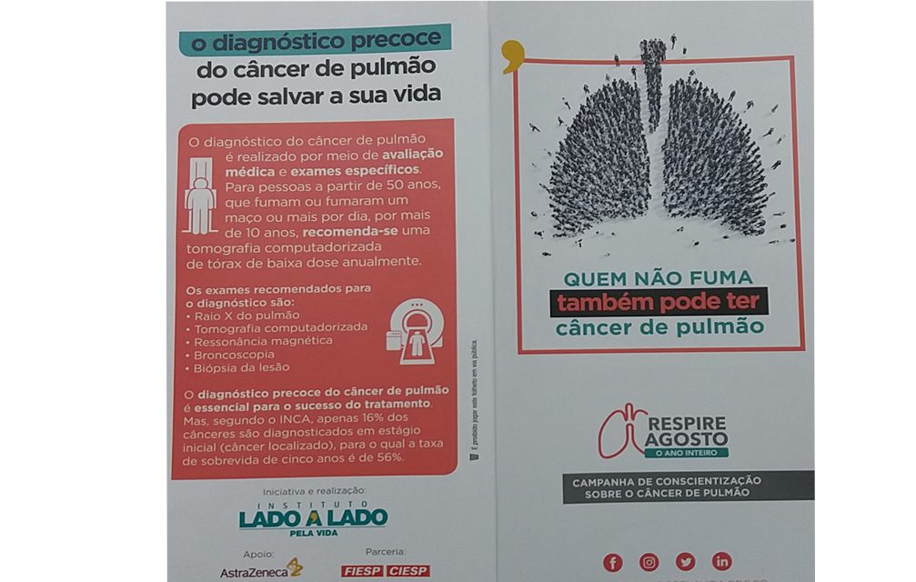 Campanha RESPIRE AGOSTO O ANO INTEIRO contra o câncer de pulmão