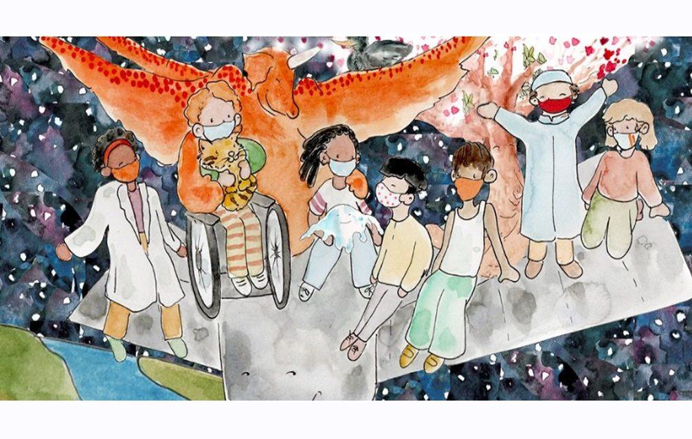 Novo livro de histórias ajuda as crianças durante COVID-19